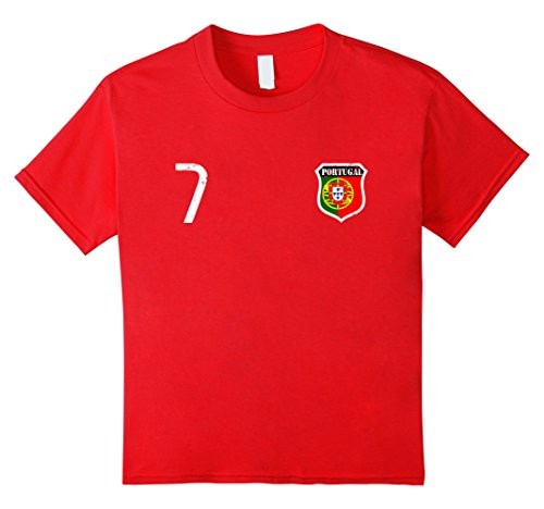 Kids Portugal Soccer Team 2017 Jersey T-Shirt 8 Red (Soccer 8 Shirt Jersey)