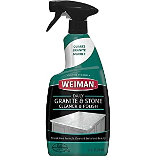Weiman Granite Cleaner and Polish - 24 Ounce 6 Pack - For Granite Marble Soapstone Quartz Quartzite Slate Limestone Corian Laminate Tile Countertop and More