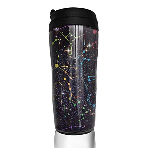 Constellations Pattern Fashion Insulated Traveler Coffee Mug Tumbler Coffee Cup 12 Ounce