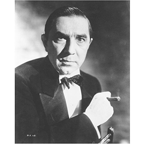 Bela Lugosi 8 inch x10 inch Photo Dracula The Wolf Man White Zombie Smoking Cigar in Tuxedo kn