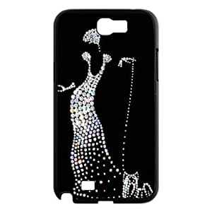 Silver Bling Custom Cover Case for Samsung Galaxy Note 2 N7100,diy phone case ygtg592175