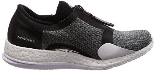 adidas Pureboost X TR Zip, Chaussures de Fitness Femme Multicolore - noir/argent/blanc (Negbas/Plamet/Ftwbla)