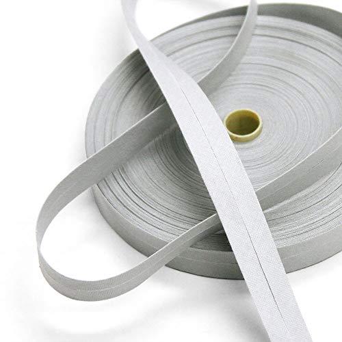 Mimi 100% Cotton 15mm Pearl River Gray Single Fold Bias Tape, 27 Yard Roll, Made in ()