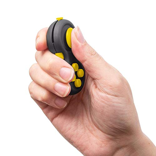 Duddy-Cam Fidget Pad - Perfect for Skin Picking - Anxiety and Stress Relief - Fidget Toy - Children and Adults (Yellow)