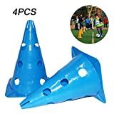 Outgeek Soccer Cones Sport Cones Multifunctional Football Training Cones Sport Training Gear with Holes 11.8''