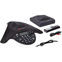 Polycom Conference Phone - Wireless SoundStation2W Expandable Telephone - Voice-Conferencing, 2200-07800-001, Black