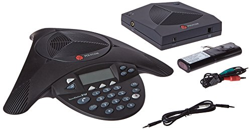 Polycom Conference Phone - Wireless SoundStation2W Expandable Telephone - Voice-Conferencing, 2200-07800-001, Black by Polycom