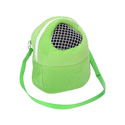 Hamster Carrier Outgoing Bag Portable Breathable Ferret Travel Sleeping Hanging Bed Bag for Hedgehog Mouse Rat Sugar Glider Squirrel Chinchilla Rabbit ()