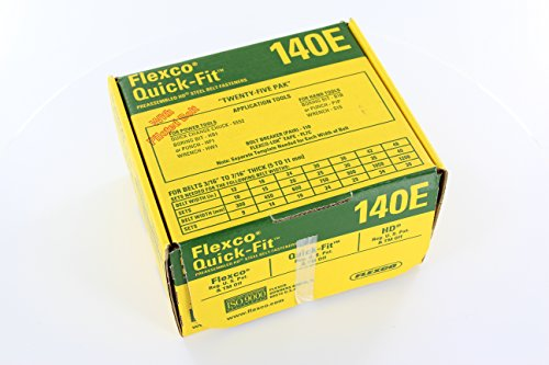 Flexco 140E Box Quick-Fit (tm) Bolt Solid Plate Fastener (25 sets Pre-assembled Bottom Plates- Piloted Bolts)