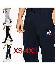 Mens Fashion Le Coq Sportif Brand Cotton Drawstring Pants Comfortable Trousers Sports Pants Sweatpants for Man