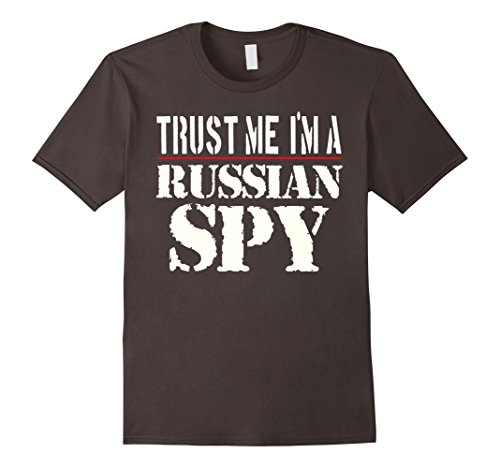 Spy Costume For Men (Mens Trust Me I'm A Russian Spy T-Shirt Small Asphalt)