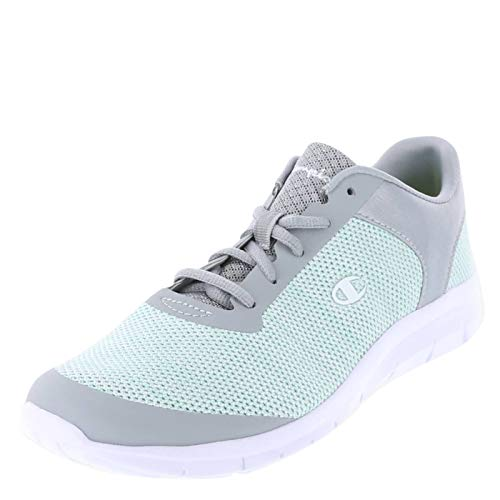 Champion Mint Grey Knit Women's Gusto Performance Cross Trainer 13 Regular
