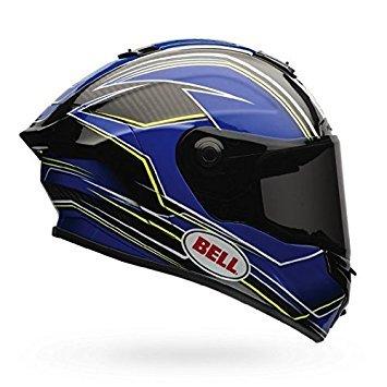 Bell Race Star Motorcycle Helmet Triton Blue/Yellow (Large)