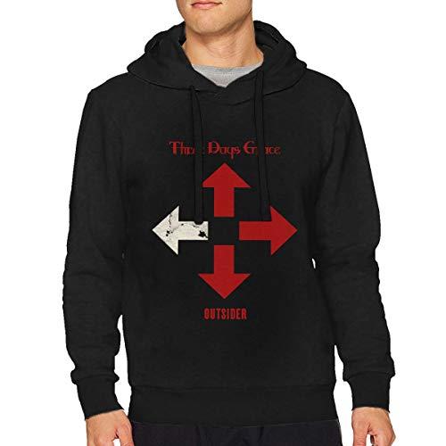 Three Days Grace Outsider Man's Fashion No Pocket Sweatshirts M