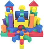 Non-Toxic 70 Piece foam Wonder Blocks for Children - Non-Recycled Quality, Waterproof, Soft, Bright, Safe & Quiet