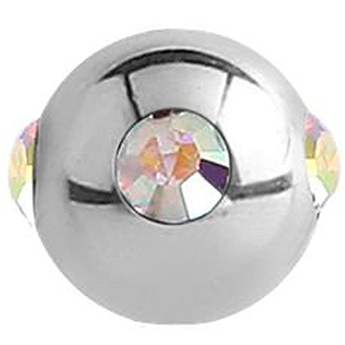 Surgical Steel Jewelled Satellite Micro Ball - Crystal AB ()