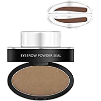 Hot Eyebrow Powder! Mjun Brow Stamp Powder Waterproof Natural Perfect Enhancer Straight United Eyebrow Eyebrows Enhancer (Light Brown)