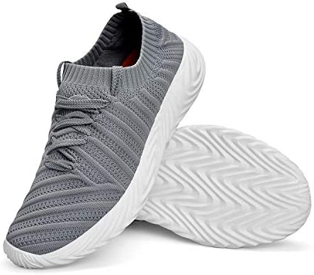 ZOCAVIA Men's Sneakers Ligthweight Non Slip Breathable Mesh Casual Walking Workout Running Shoes 12