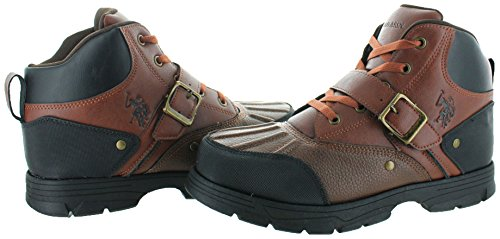 Us Polo Assn.mens Mid Cut Boot Redwood