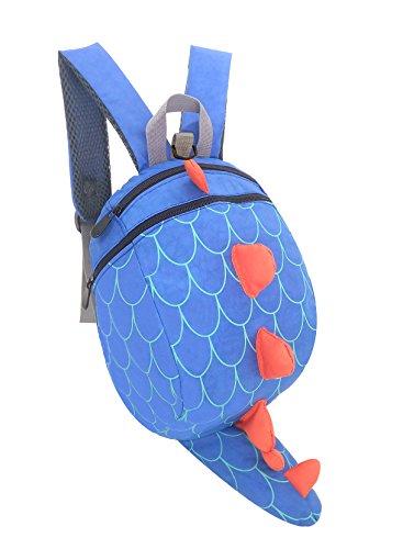 Kids Toddler Child School bag Boy Girl Cartoon Dinosaur Safety Harness Backpack (Blue) from WPAN