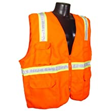 Radians SV61-NZOD-2X Two Tone Dual Economic Surveyor Non Rated Safety Vest, Orange, 2 Extra Large