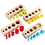 EBTOYS Wooden Educational Toy Montessori Cylinder Socket Early Development Senses,Assortment