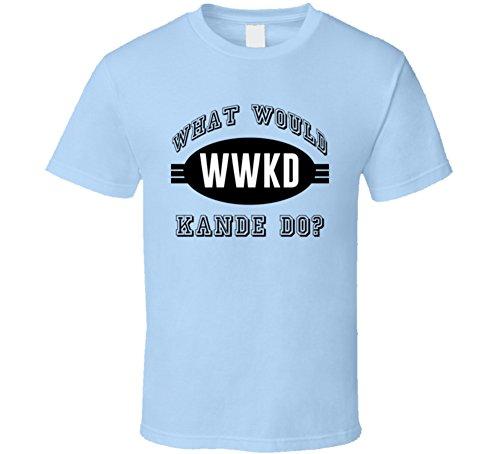 What Would Kande Do WWJD Parody Custom Name T Shirt L Light Blue