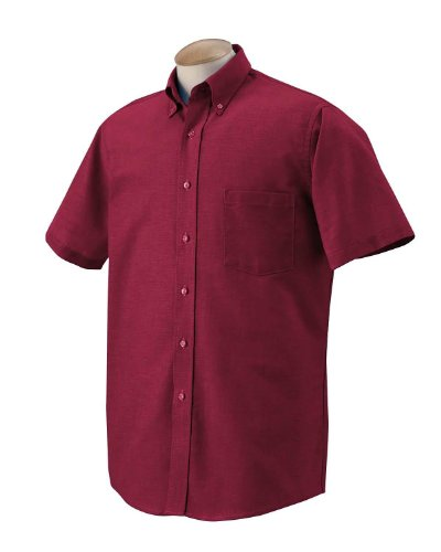 Van Heusen Men's Short Sleeve Wrinkle Resistant Oxford Shirt