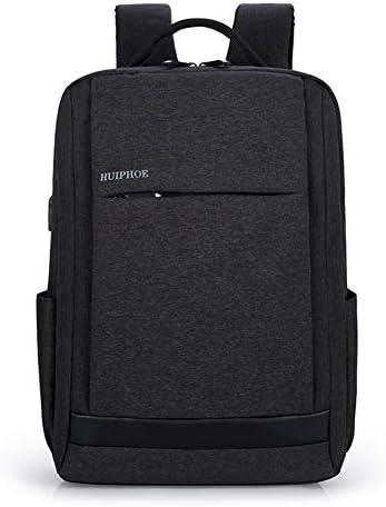 Quzama-JS リュック メンズ ビジネスリュック バックパック リュックサック PCバック 大容量 帆布 USB充電ポート イヤホン穴付き 15.6インチ 多機能 撥水加工 耐衝撃 通勤通学 出張 旅行 プレゼント(ブラック)
