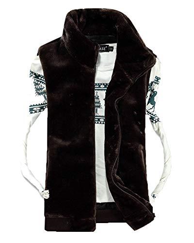 Quilted Brown Padded Sleeveless Mens Body Down Vest Jacket Bodywarmer Zipper Dark Coat Gilets Top Warmers Gilet Liangzhu wfa7z