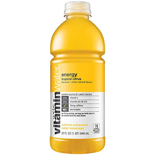 Vitaminwater Energy, Tropical Citrus, 32 Oz Bottle (Pack of 6)