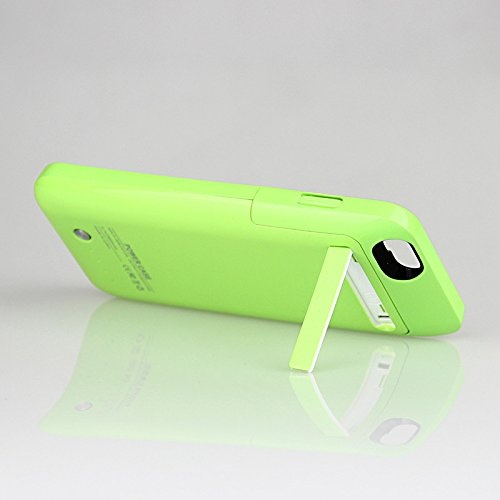External Protective Battery Case for iphone 6(4.7), 3500mAh Extended power Case Back Up Power Bank for iPhone 6 Back Up (iOS 7 or above Compatible) , Lightning Charging Port, Kick Stand, Slim Fit Slider Design (green)