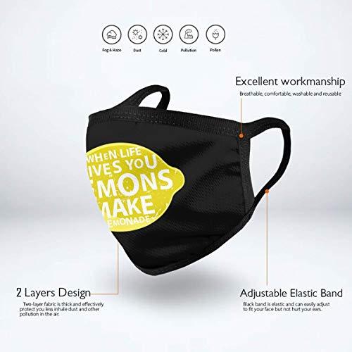 Gives You Lemons Make Lemonade Logo Unisex Mouth Mask Washable Reusable Windproof Face Masks For Mens And Womens