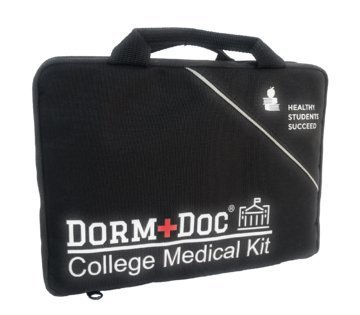 College First Aid Medical Kit Best Graduation Gift Dorm Room -Includes 125 Pieces 60% OTC Meds 40% First Aid Items Graduation Party Off to College Safety Pharmacist Designed