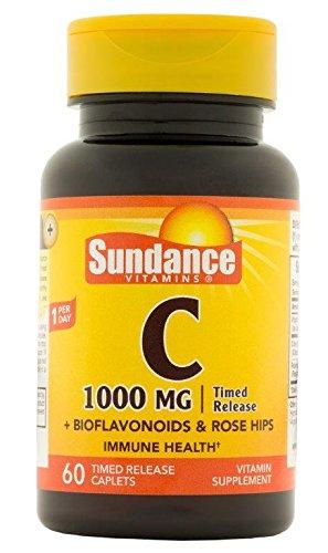 Sundance Vitamin C 1000 mg with Bio and RH T/R Coated Cap...