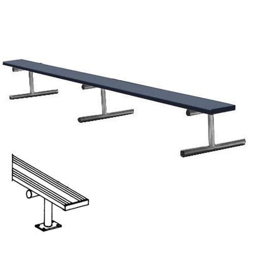 Image of 7.5' Surface Mt Bench w/o back (colored) (EA) Fan Shop