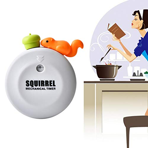 Zeshlla Kitchen Timer, Cute Squirrel Digital Cooking Timer Magnetic 60 Minutes Countdown Reminder with Loud Alarm