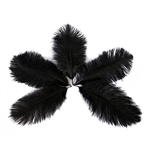Wionya 50pcs Ostrich Feather Craft 6-8inch(15-20cm) Plume for Wedding Centerpieces Home (Mardi Gras Table Arrangements)