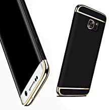 For Galaxy S6 Case,JOBSS Hybrid Luxury Shockproof Armor Back Ultra-thin Case Cover Removable case for Samsung Galaxy S6 Black