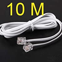 1M-20M 3Ft-60Ft High Speed RJ11 Telephone Phone ADSL Modem Line Cord Cable S