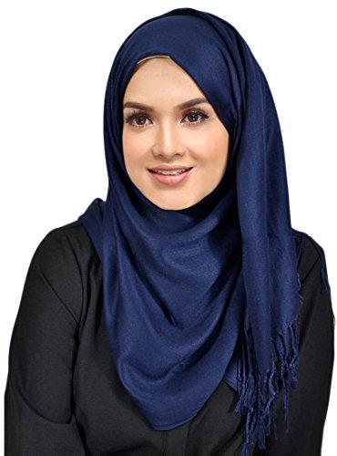 Hanas Womens Solid Pashmina Rayon
