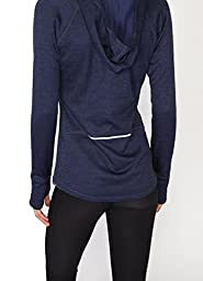 RBX Active Women\'s Hooded Brushed Back Sweater Knit Jacket New Navy S