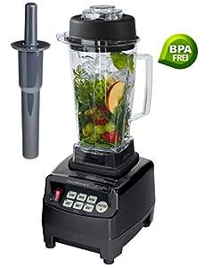 Profi Smoothie Maker Power Mixer Blender Icecrusher Schwarz 2,0 l BPA-FREI...