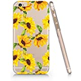 Sunflower Pattern Slim Iphone 6 6S Case, Clear Iphone 6 6S Hard Cover Case For Apple Iphone 6/6S -Emerishop (AH1570)