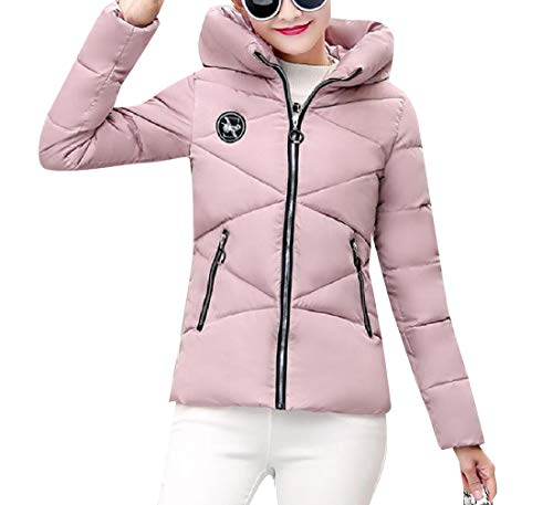 Sottili Mini Piumino All'aperto Rosa Donne Hoode Cappotto Xinheo Classici Ispessiti wUaqCTxn
