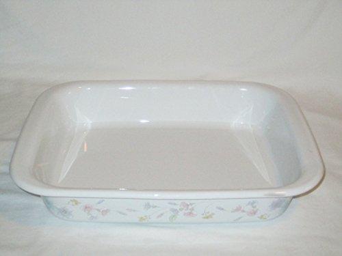 Vintage Corning Ware Pastel Bouquet Roaster Lasagna Pan A-21
