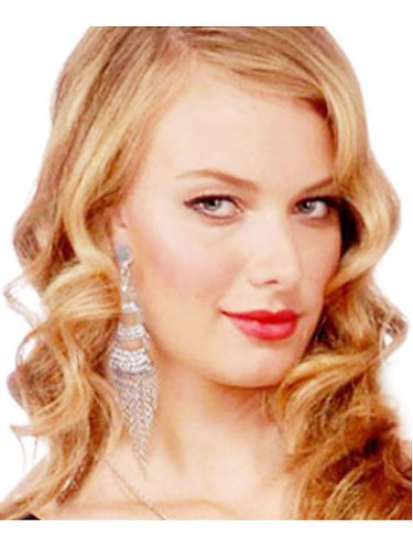 [Forum Retro Hollywood Film Star Celebrity Chandelier Earrings] (Hollywood Film Fancy Dress Costumes)