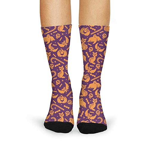 Halloween Pumpkin ghost candy Girls Stocking Moisture Wicking Classic]()