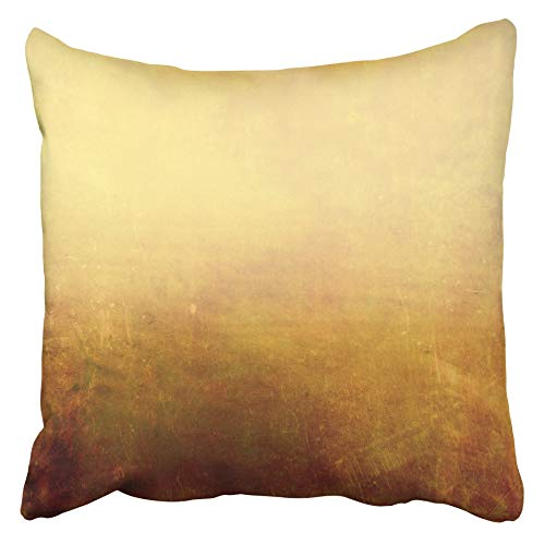 Emvency Decorative Throw Pillow Covers Cases Beige Edge Earthy Design Brown Abstract Abstraction Age Aged Antique Artistic Border 16x16 inches Pillowcases Case Cover Cushion Two Sided -