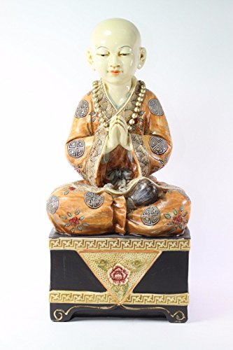15 H Peaceful Meditating Buddha Monk Statue Mudra of Veneration Perfect Gift for Those Who Want Tranquility We Pay Your Sales Tax